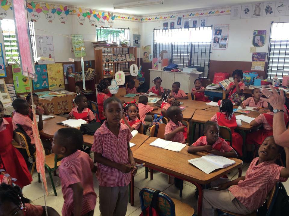 Kalos Financial Atlanta Kalos on a Mission Jamaica 2015 students classroom