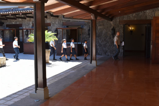 Kalos Financial Atlanta Kalos on a Mission 2019 Costa Rica children lining up