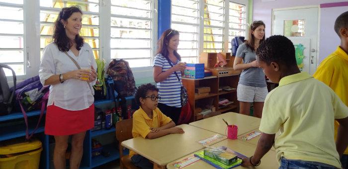 Kalos Financial Atlanta Kalos on a Mission Curacao 2016 classroom desks