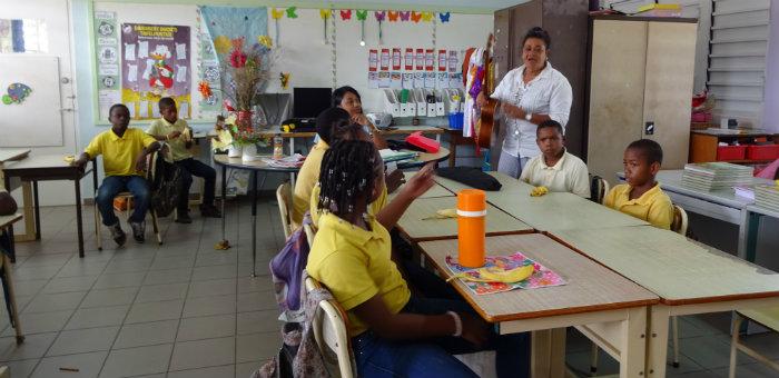 Kalos Financial Atlanta Kalos on a Mission Curacao 2016 students classroom teacher