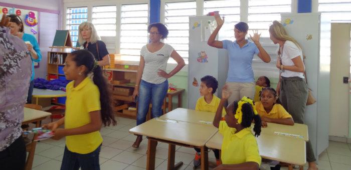 Kalos Financial Atlanta Kalos on a Mission Curacao 2016 students classroom