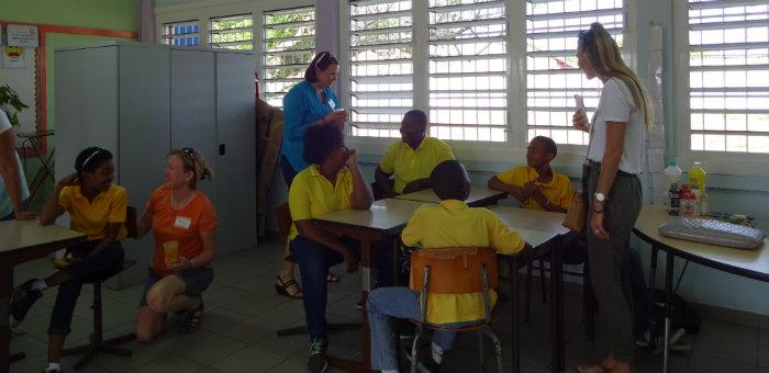 Kalos Financial Atlanta Kalos on a Mission Curacao 2016 team classroom students